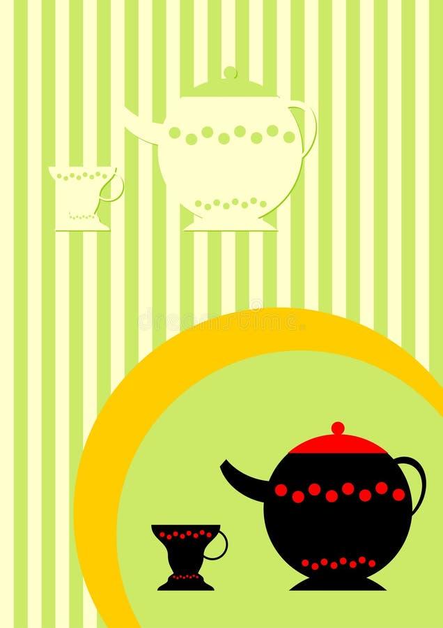 Download Teatid vektor illustrationer. Illustration av illustratör - 988884
