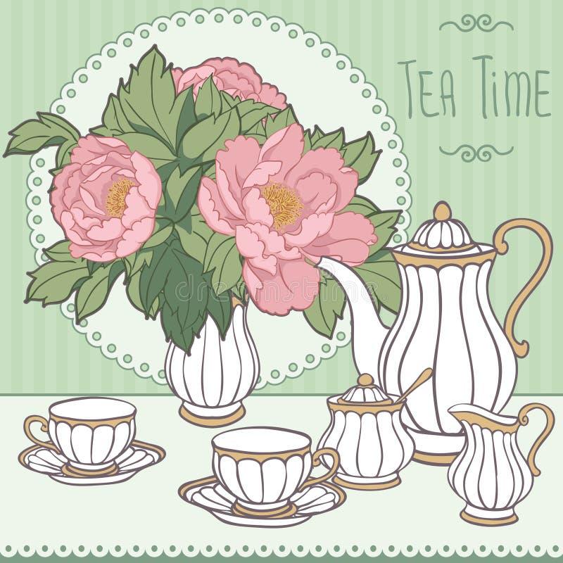 teatime illustrazione di stock