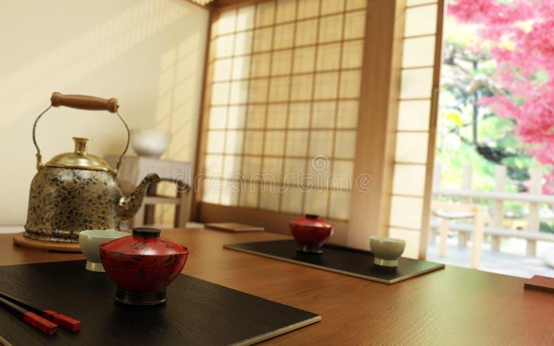 Teatime japonês ilustração royalty free