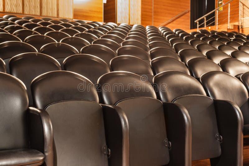 Teatrów krzesła zdjęcia royalty free