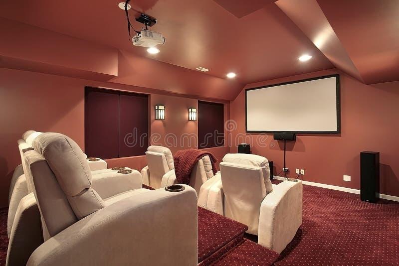Teatr Czerwone ściany Zdjęcie Royalty Free
