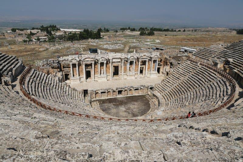 Teatr Hierapolis w Turcja obrazy royalty free