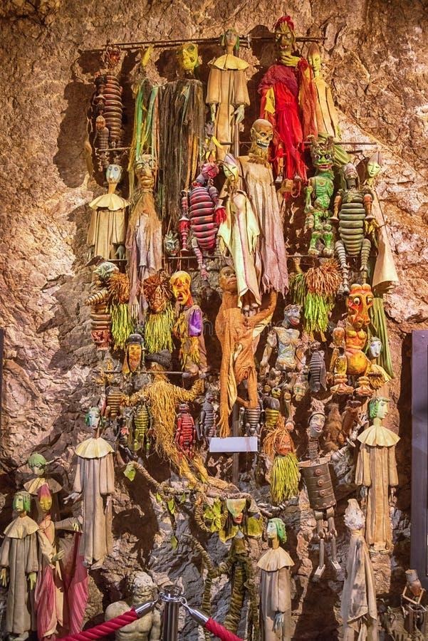 Teatr marionetkowe kukły i koścowie, Salzburg, Austria fotografia royalty free