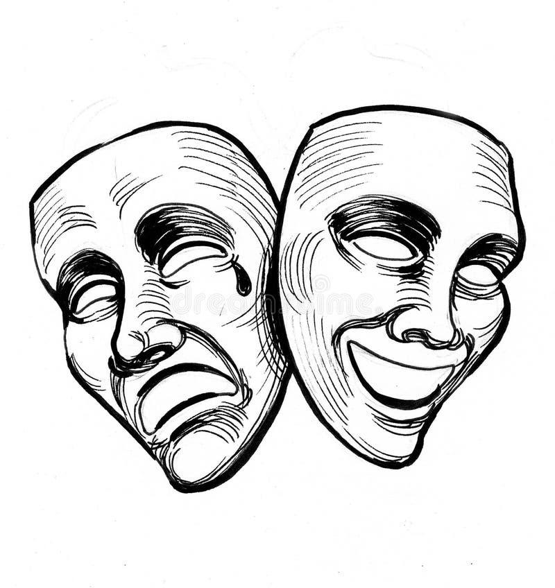Teatr maski royalty ilustracja