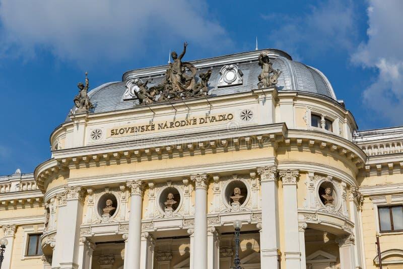 Teatr Narodowy fasada w starym miasteczku Bratislava, Sistani zdjęcie stock