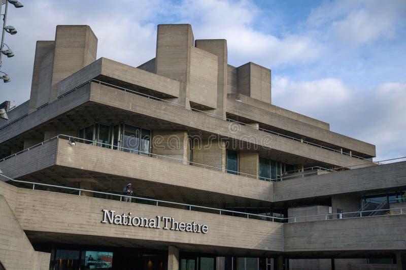 Teatr Narodowy, południe bank Londyn fotografia stock