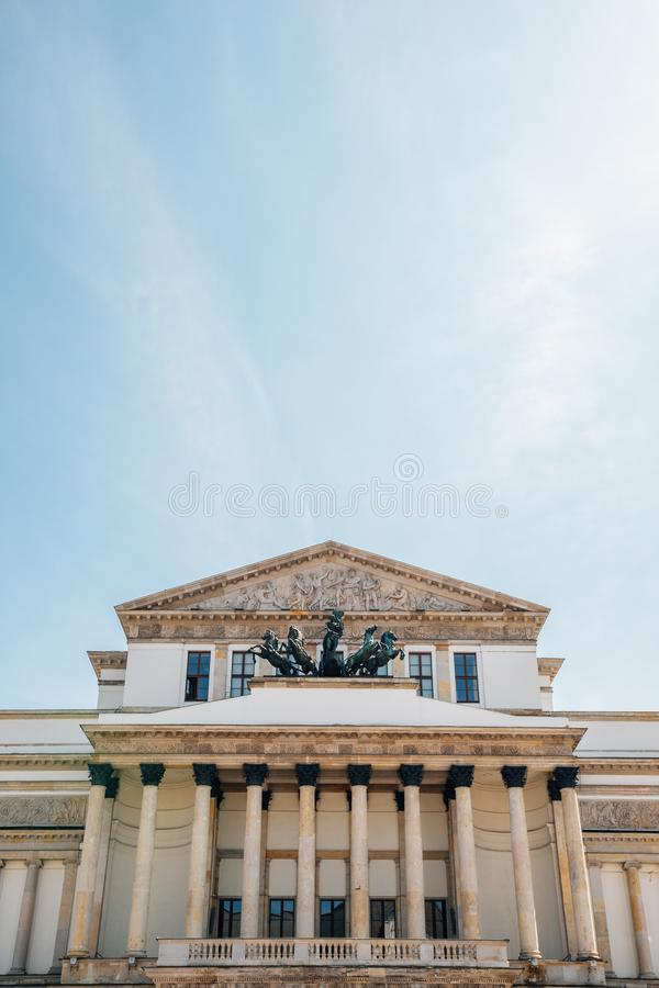 Teatr Wielki - Polish National opera house in Warsaw, Poland stock photos