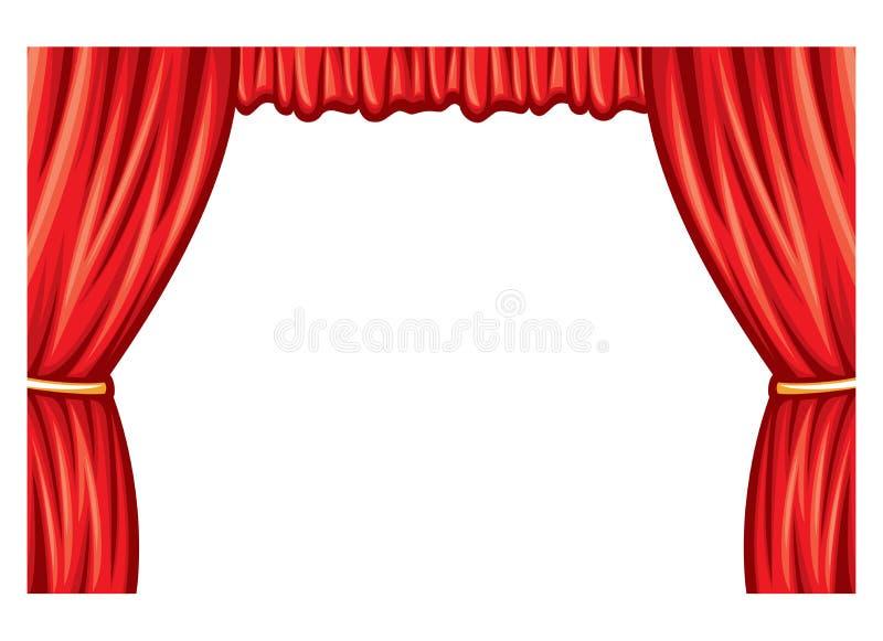 Teatr zasłona ilustracji