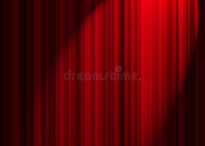 teatr zasłony. ilustracja wektor