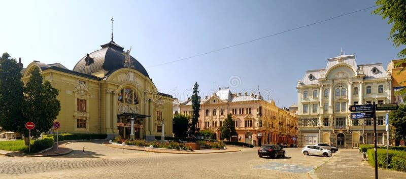 Teatralna kwadrat w Chernivtsi zdjęcie stock