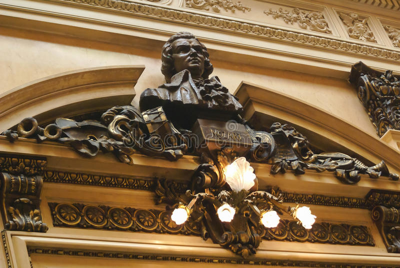 Teatro冒号的莫扎特霍尔 库存照片