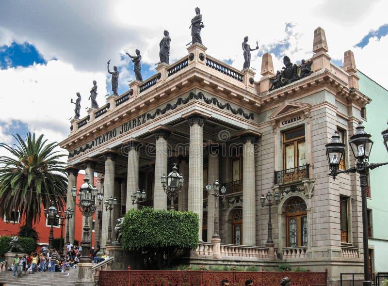 Teatro华雷斯瓜纳华托州 库存图片
