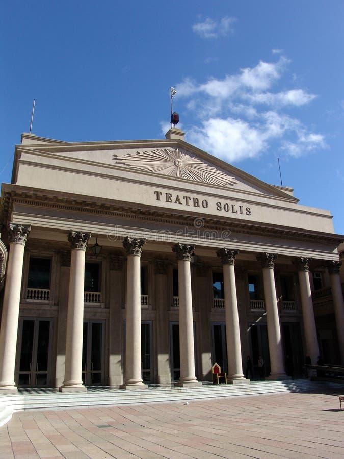 teatro Ουρουγουάη solis του Μον&ta στοκ εικόνα