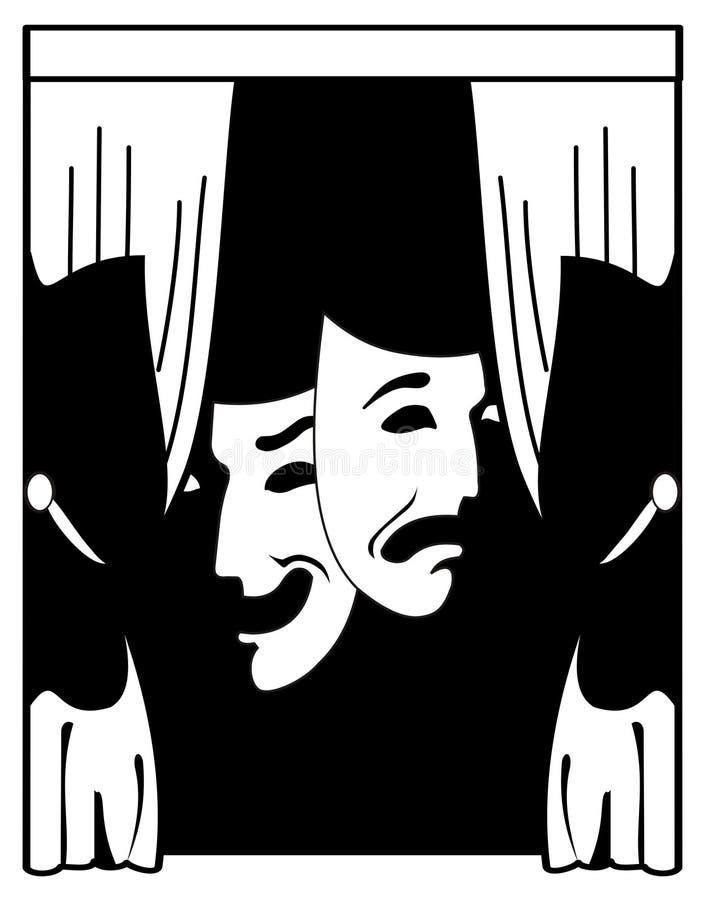 Teatro ilustración del vector