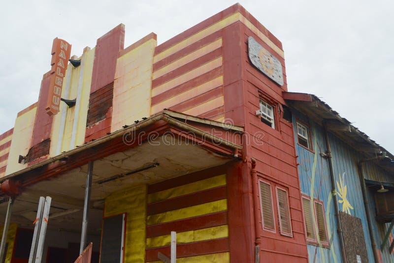 Teatro abandonado fotografia de stock