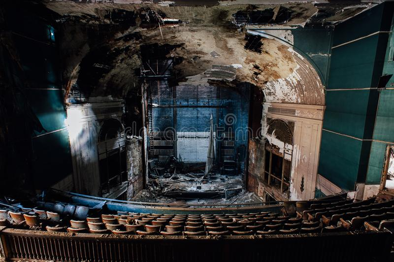 Teatro abandonado de Paramount - Youngstown, Ohio fotos de stock royalty free