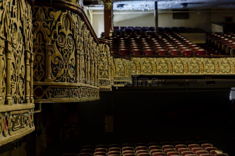 Teatro abandonado e histórico para Shriners - Wilkes-barra, Pennsylvania del templo de Irem imágenes de archivo libres de regalías
