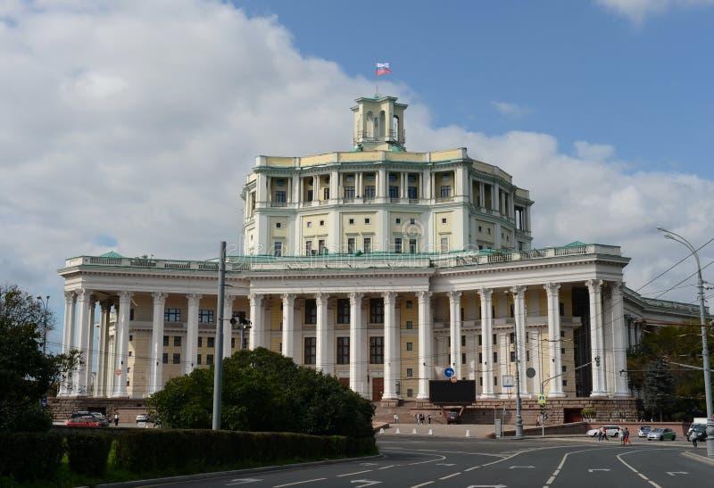 Teatro académico central del ejército ruso en el cuadrado de Suvorov en Moscú foto de archivo