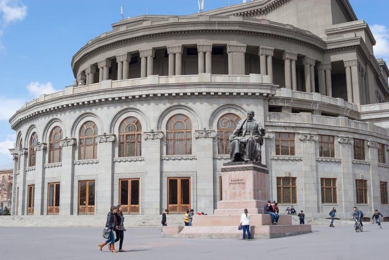 Teatro académico de la ópera y de ballet del estado de Armenia fotografía de archivo