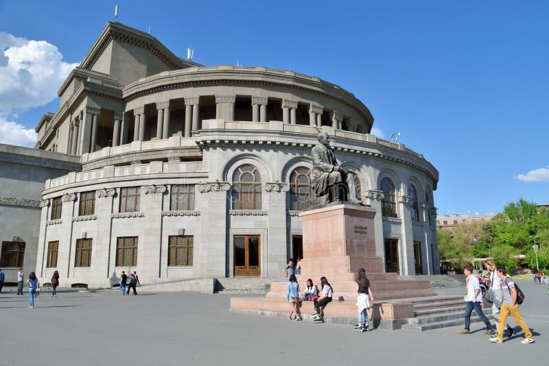 Teatro académico de la ópera y de ballet del estado de Armenia imagen de archivo
