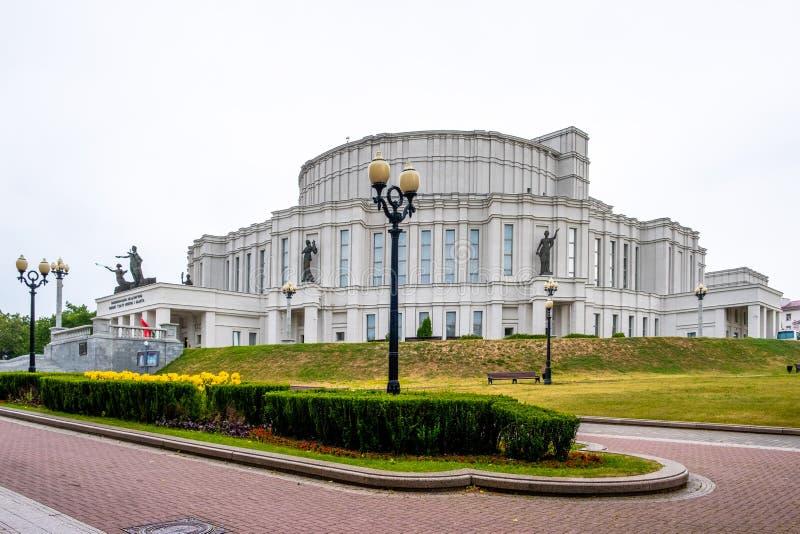 Teatro académico nacional de la ópera y de ballet de Bolshoi en Minsk fotografía de archivo
