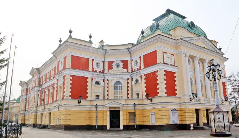 Teatro acadêmico do drama de Irkutsk fotos de stock