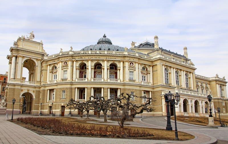 Teatro accademico nazionale di Odessa dell'opera e del balletto fotografia stock