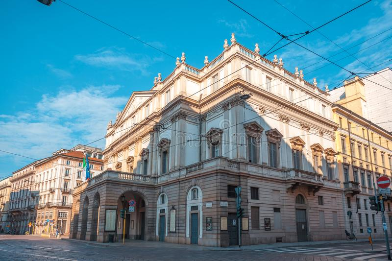 Milan, Italy - 14.08.2018: The Teatro alla Scala in Milan, Italy royalty free stock image