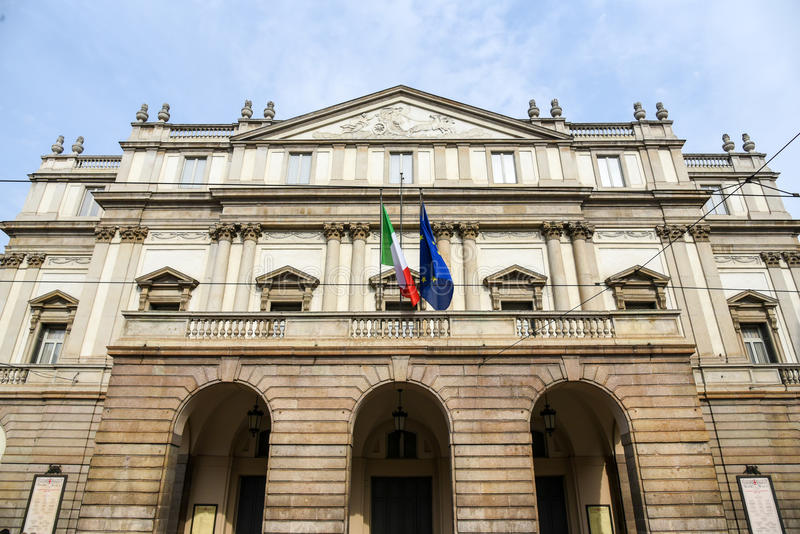 The Teatro alla Scala in Milan, Italy royalty free stock photography