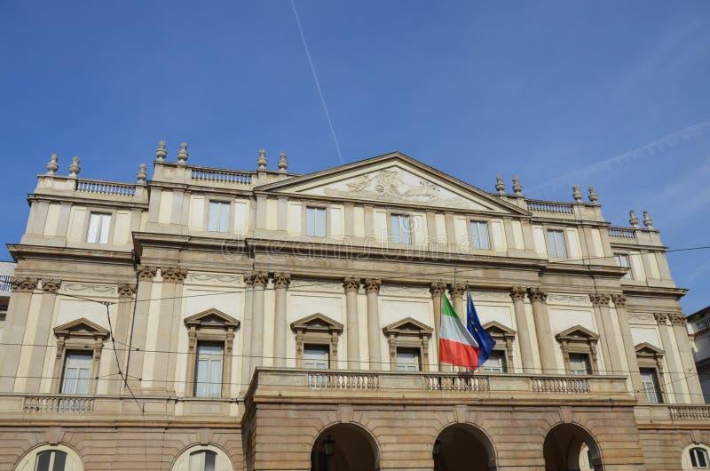 The Teatro alla Scala in Milan, Italy stock image