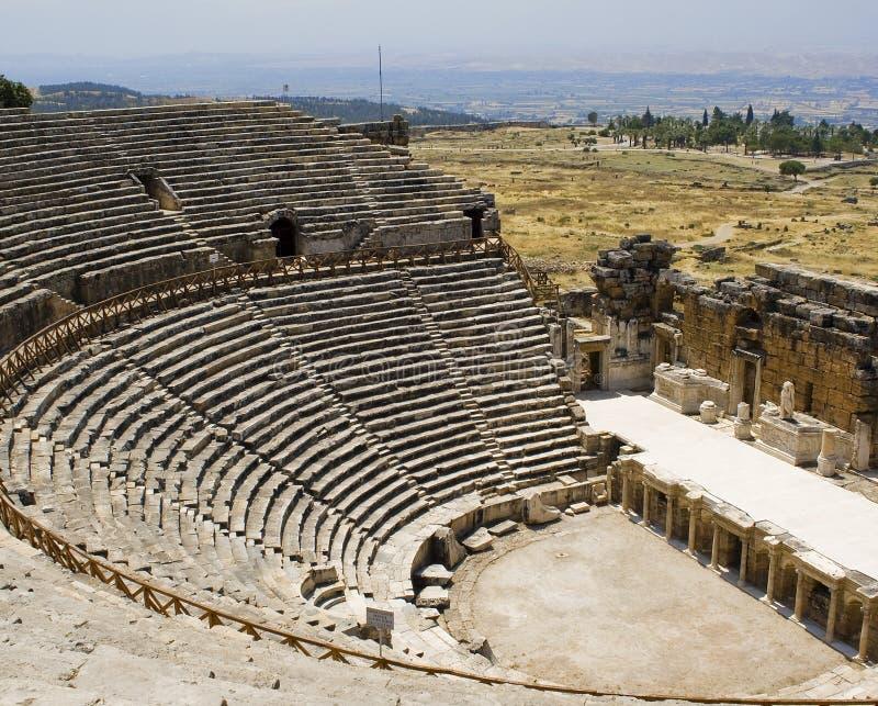 Teatro Antic in Hierapolis. fotografie stock