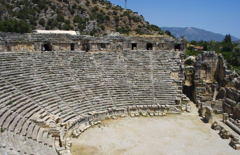 Teatro Antic in Myra fotografia stock libera da diritti