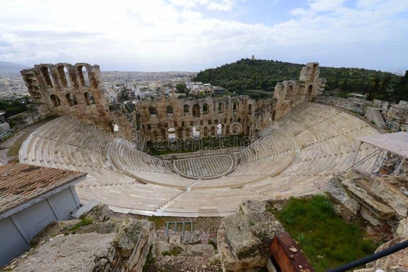 Teatro antico di Atene immagine stock libera da diritti