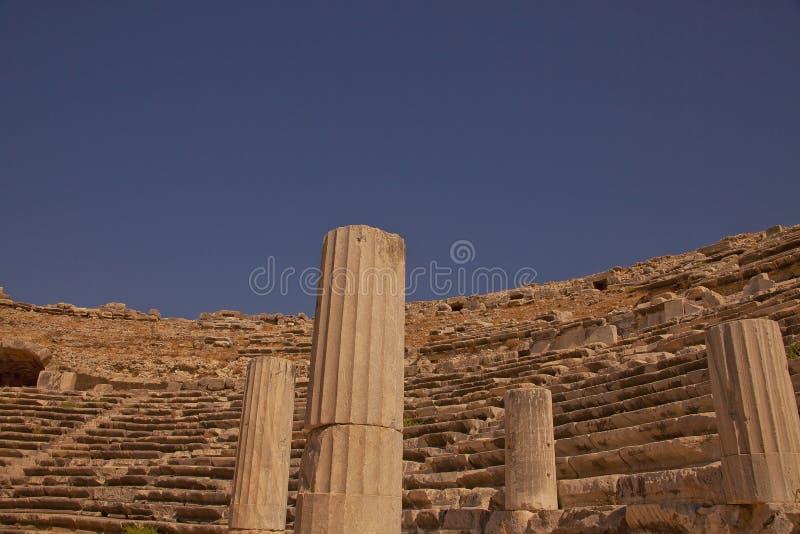 Teatro antico di Mileto in Turchia fotografia stock libera da diritti