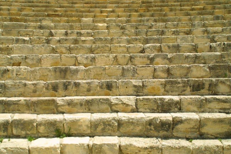 Teatro antico in Kourion fotografia stock libera da diritti