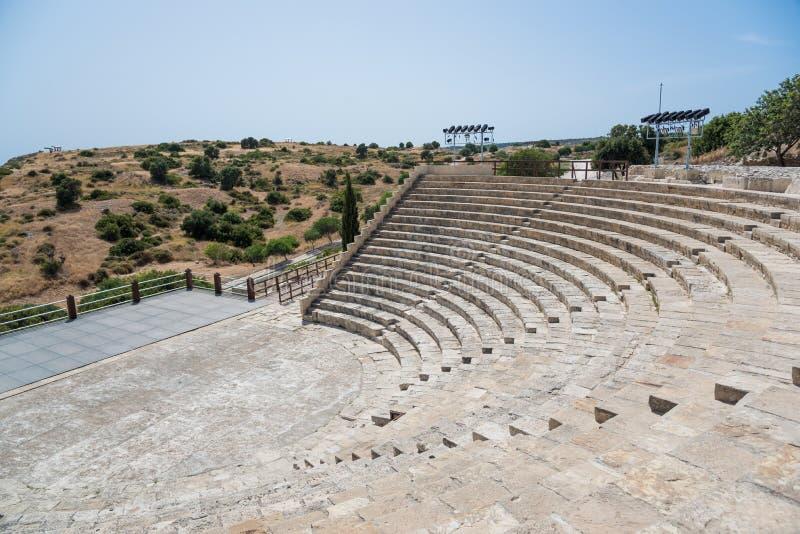 Teatro antico, Kourion, Cipro fotografie stock libere da diritti
