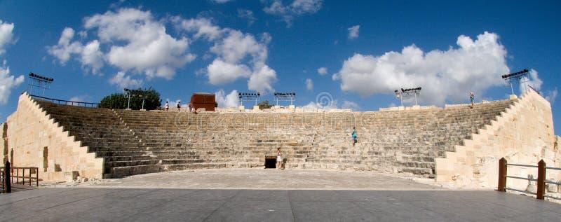 Teatro antigo em Kourion fotos de stock