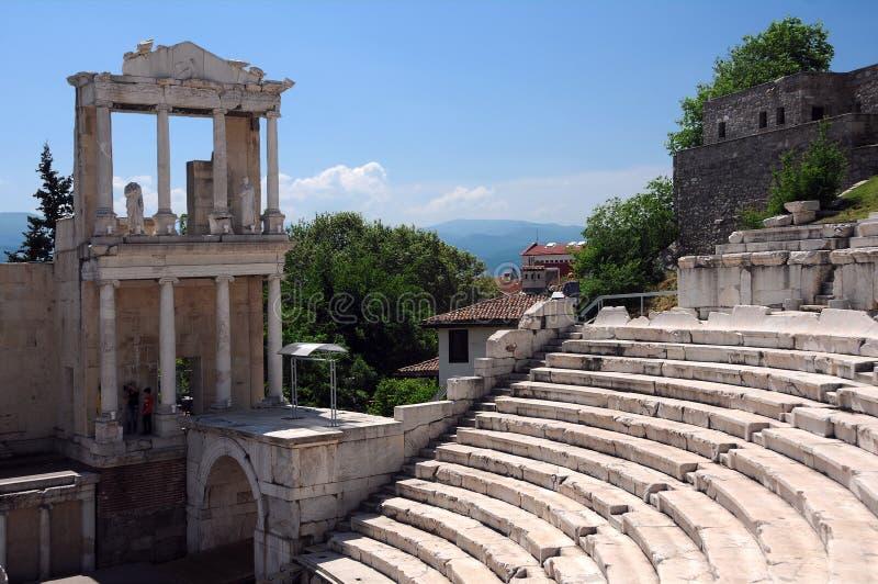 Teatro antigo em Plovdiv foto de stock royalty free