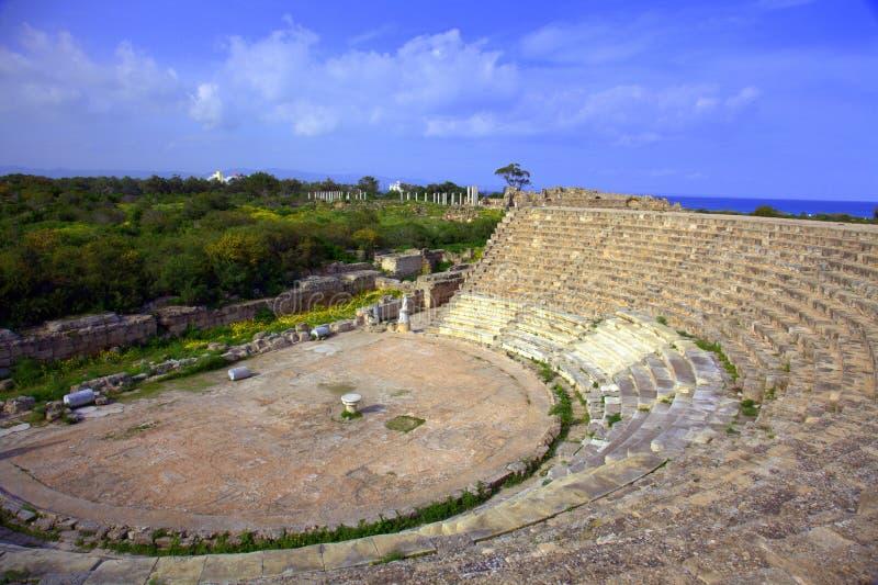 Teatro antigo nos Salamis foto de stock royalty free