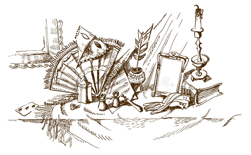 Teatro antigo (vetor) ilustração do vetor