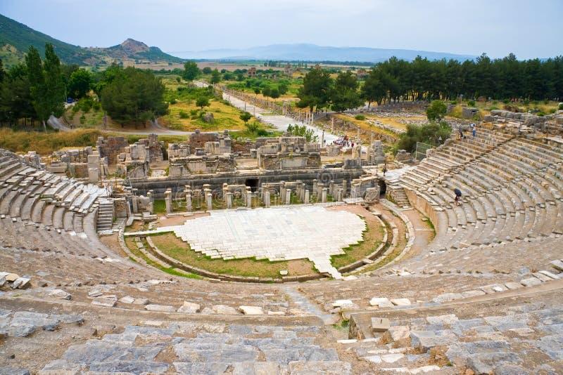 Teatro antiguo de Ephesus imágenes de archivo libres de regalías