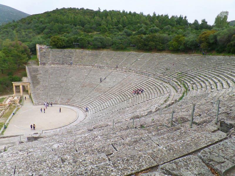 Teatro antiguo de Epidaurus, Grecia, patrimonio mundial de la UNESCO imagenes de archivo