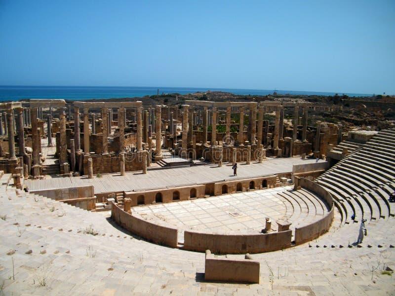 Teatro antiguo, en Trípoli, Libia fotos de archivo
