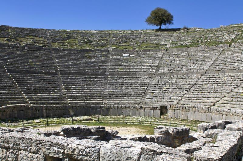 Teatro antiguo griego de Dodoni en Grecia imágenes de archivo libres de regalías