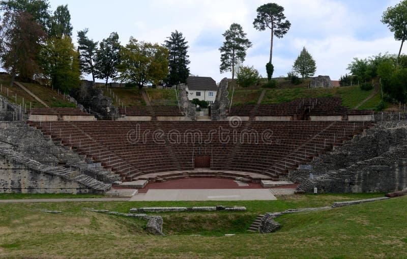Teatro, Augusta Raurica fotografia stock