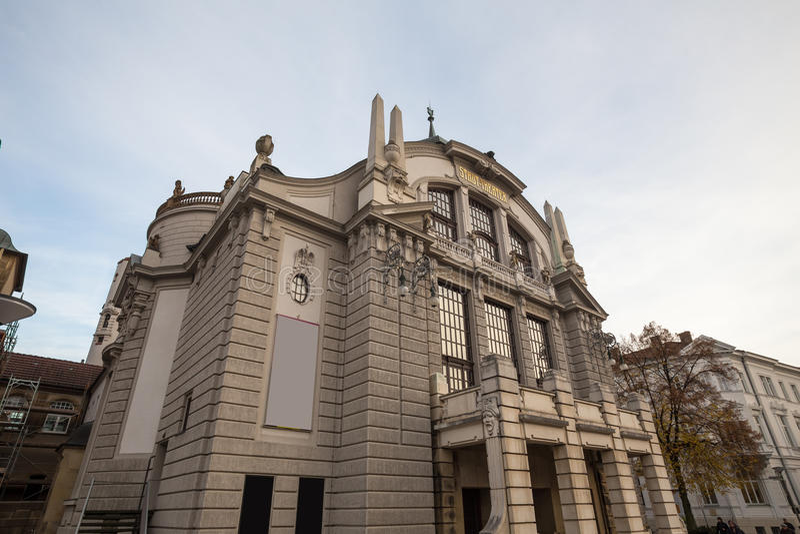 Teatro Bielefeld Germania immagini stock libere da diritti