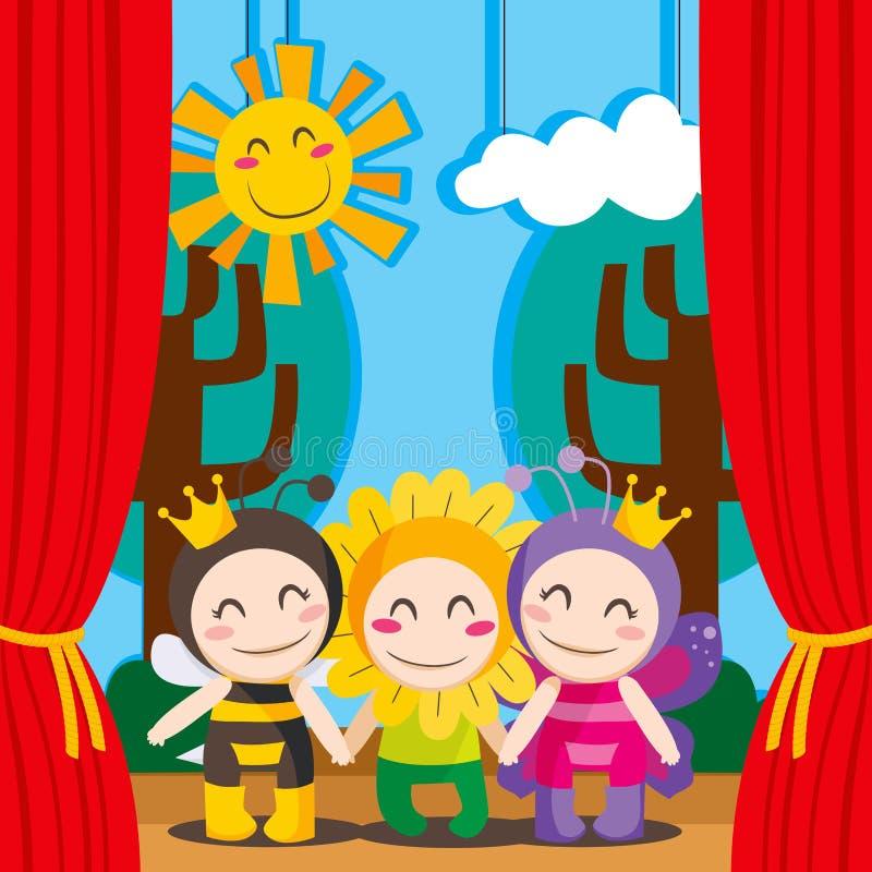 Teatro bonito ilustração royalty free