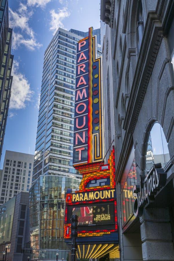 Teatro Bostom de Paramount fotos de stock royalty free