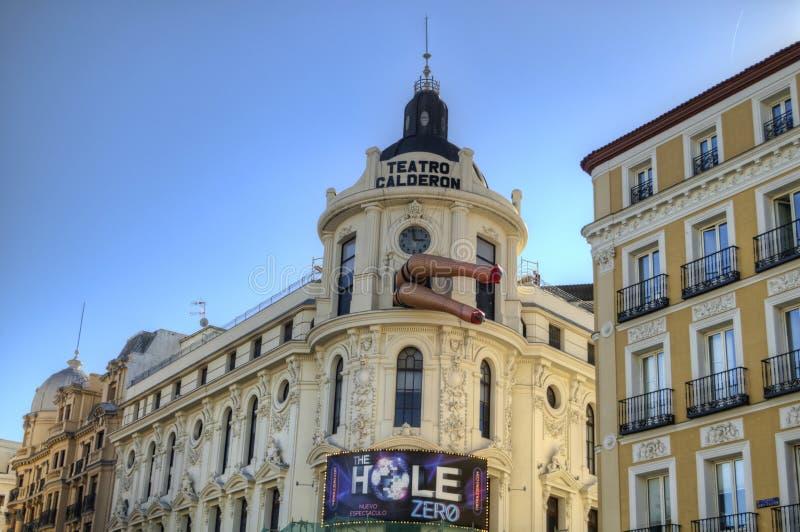 Teatro Calderon在马德里 库存照片
