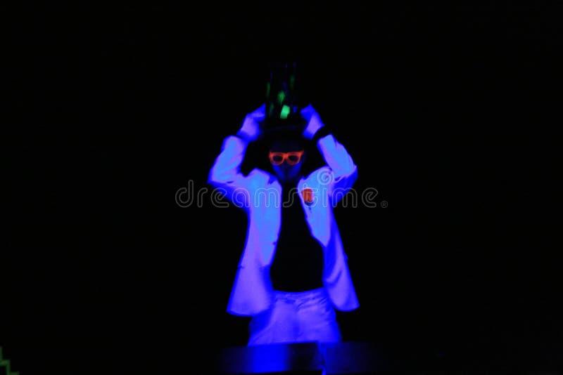 Teatro chiaro nero. Praga fotografie stock libere da diritti